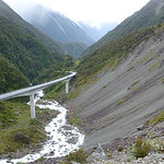 An engineering marvel along a fault line on South Island, photographed by participant Cathy Pasterczyk.